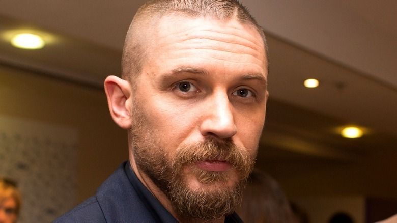 Tom Hardy with short hair