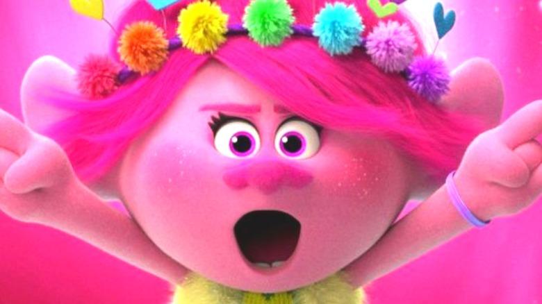 Anna Kendrick as Poppy pointing
