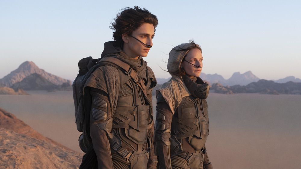 Timothee Chalamet and Rebecca Ferguson in 2021's Dune