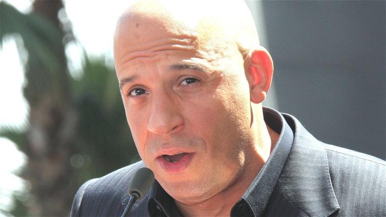 Vin Diesel talking