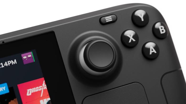 Steam Deck buttons closeup