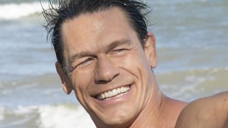 John Cena smiling in the ocean
