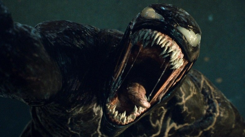 "Venom in a scene from ""Venom: Let There Be Carnage"""