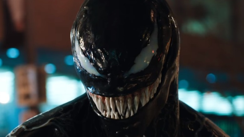 Tom Hardy as Eddie Brock/Venom in Venom