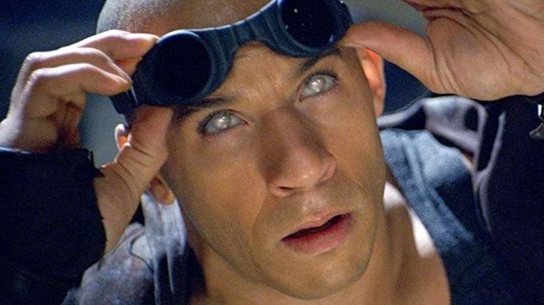 Riddick with white eyes