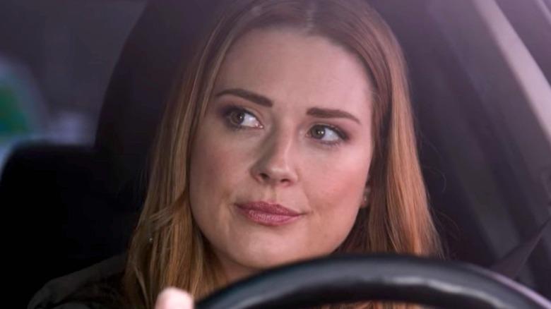 Mel Monroe driving car