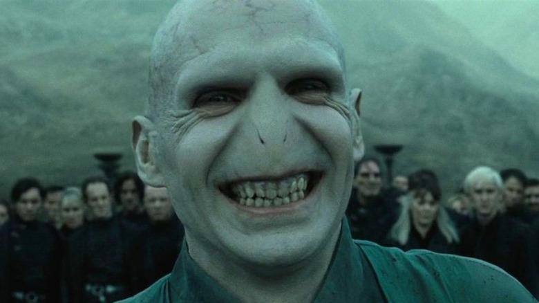 Voldemort smiling Battle Hogwarts