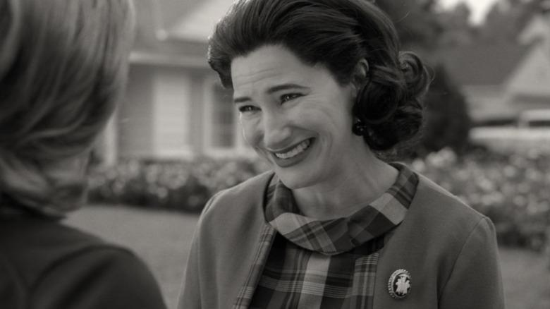 Agnes grinning at Wanda