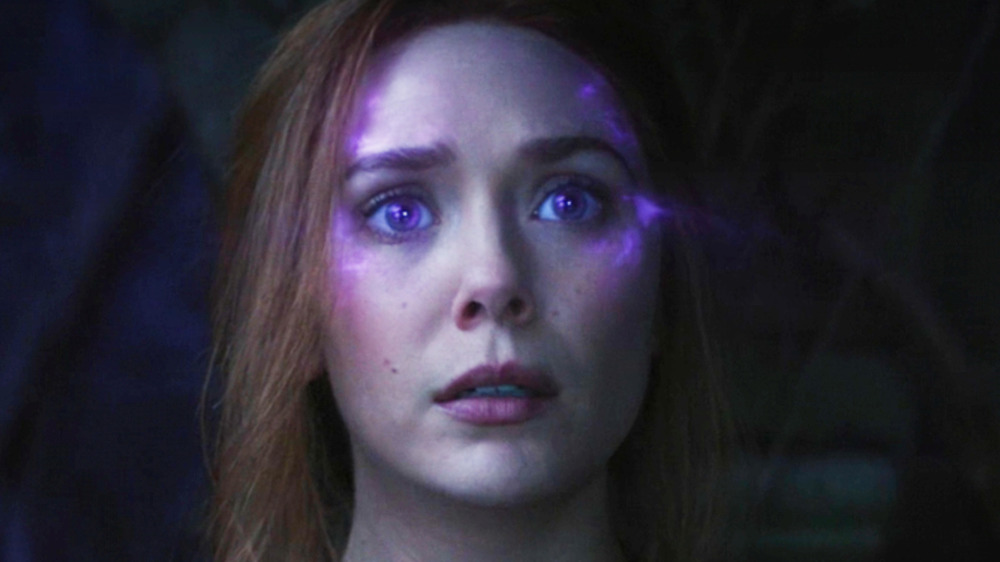 WandaVision with glowing purple eyes episode 7