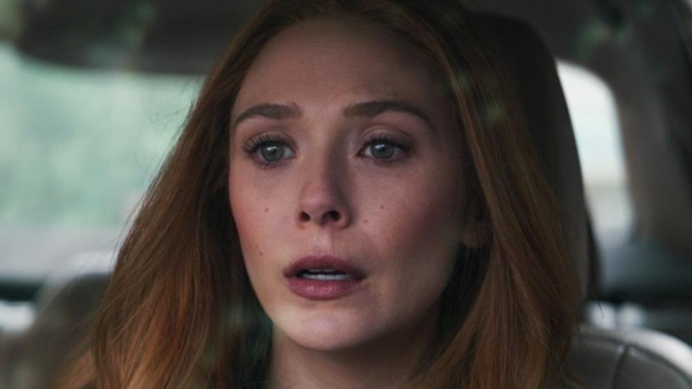 Wanda upset in the car WandaVision episode 8