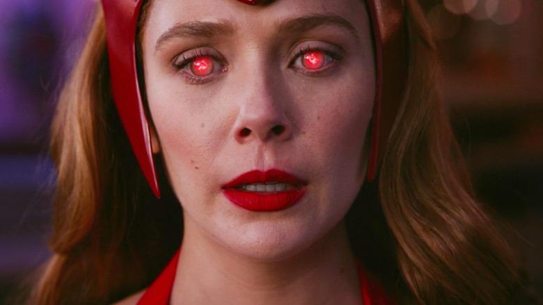 Wanda with red eyes WandaVision episode 6