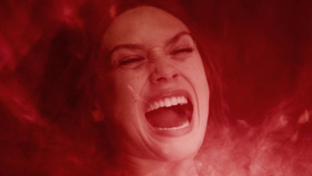 Wanda Maximoff using her chaos magic