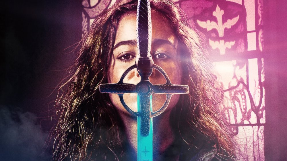 Ava and a cross sword