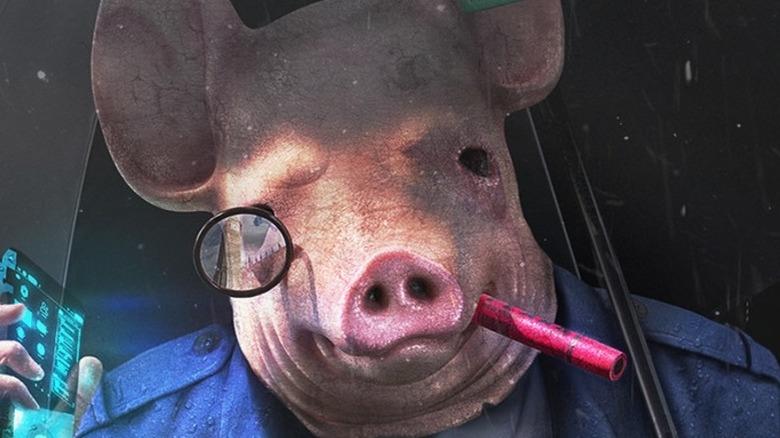 Pig mask rain