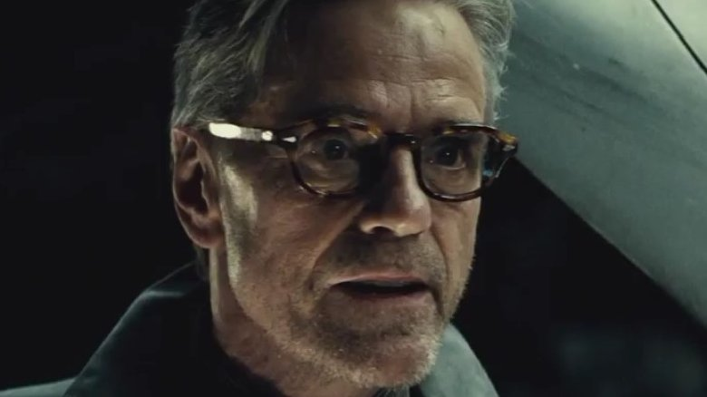Jeremy Irons as Alfred in Batman vs Superman