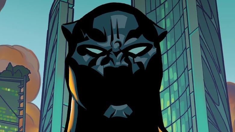Black Panther's masked face