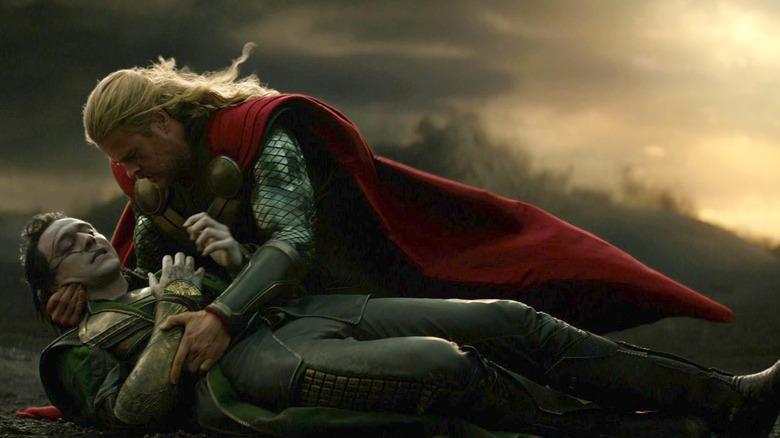 "Tom Hiddleston and Chris Hemsworth in ""Thor: The Dark World"""