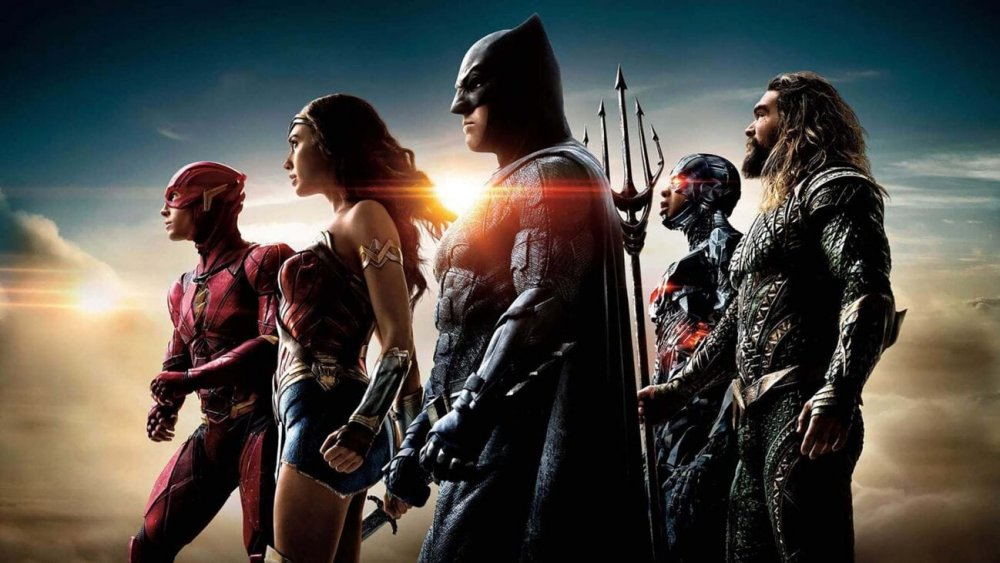 promo image for Justice League with its principle characters