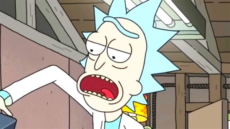 Rick and Morty Open Mouth