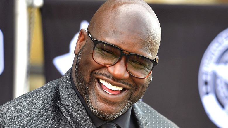 Shaquille O'Neal smiling
