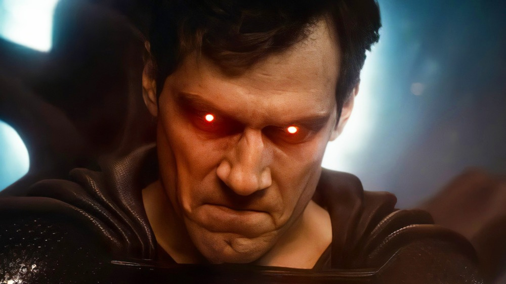 Superman red eyes Snyder Cut Justice League