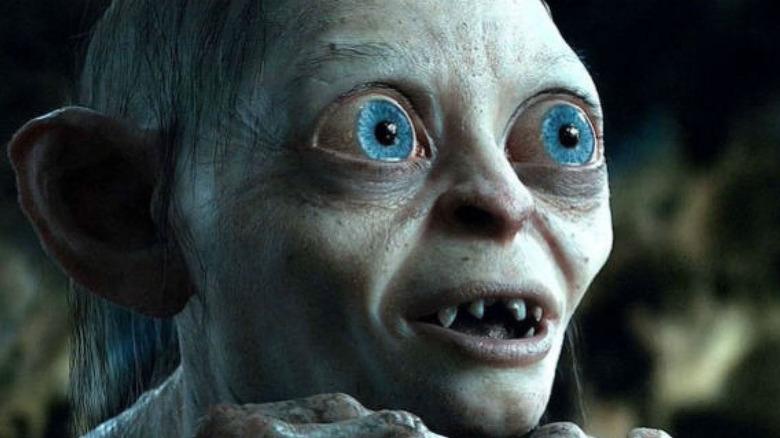 Gollum Smeagol wide eyed smiling