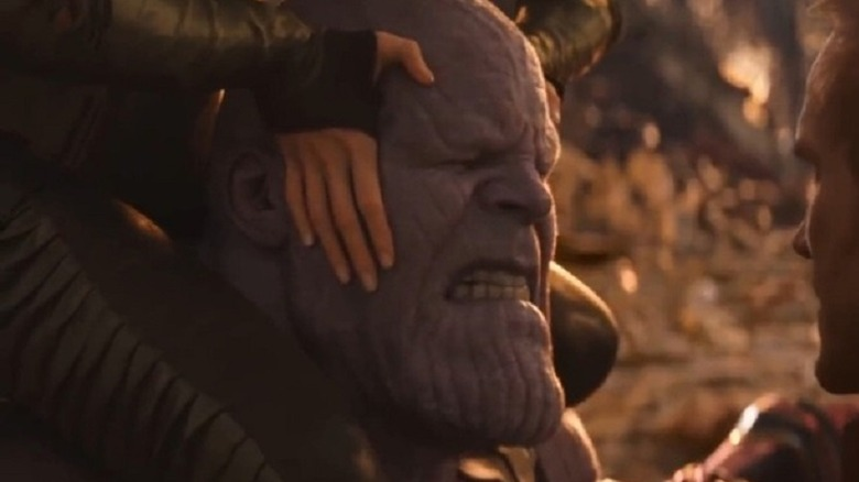 Mantis stunning Thanos with her empathic powers in Avengers: Infinity War