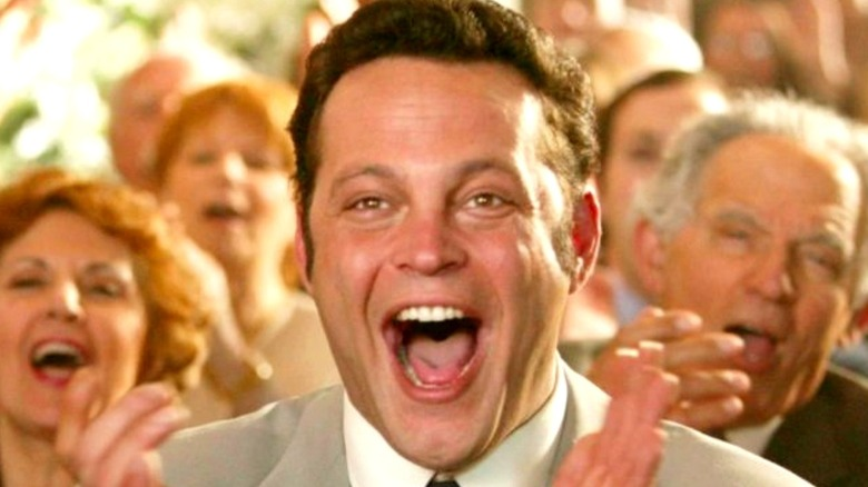 Vaughn clapping in Wedding Crashers