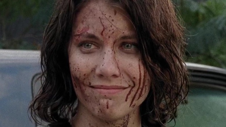 Maggie Rhee bloodstained smile