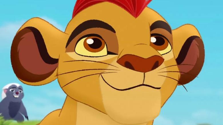 The lion guard close up