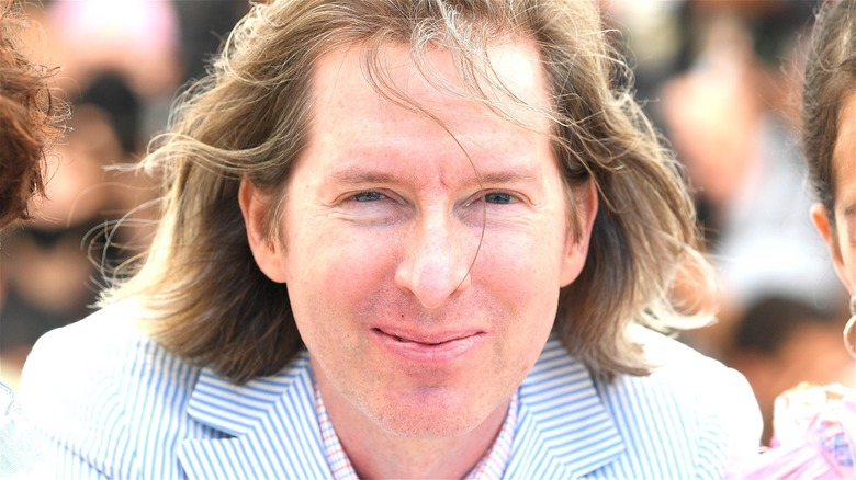 Wes Anderson smiling