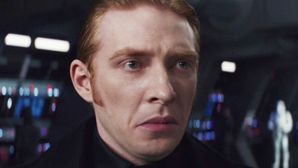 General Hux frowning