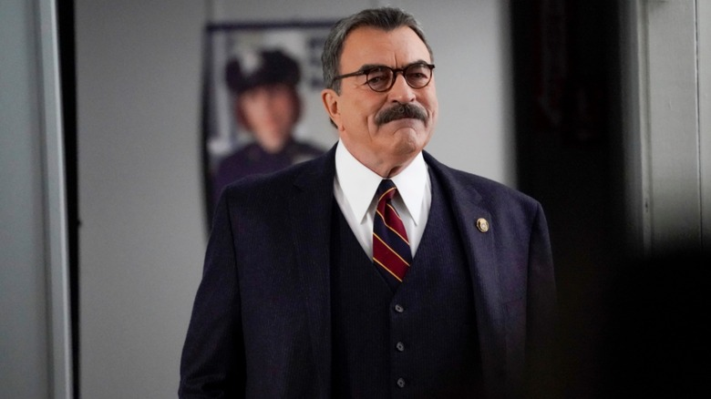 Tom Selleck's Frank Reagan at the office on Blue Bloods