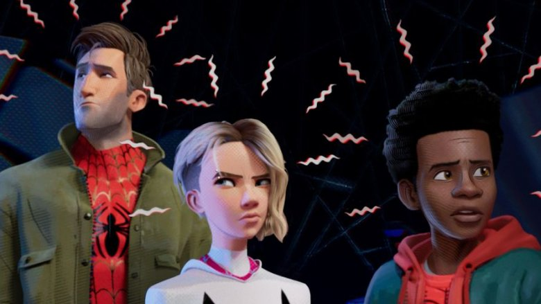 Spider-Man Into the Spider-Verse Peter Parker, Spider-Gwen, and Miles Morales