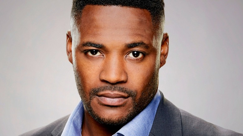 Duane Henry looks serious on NCIS