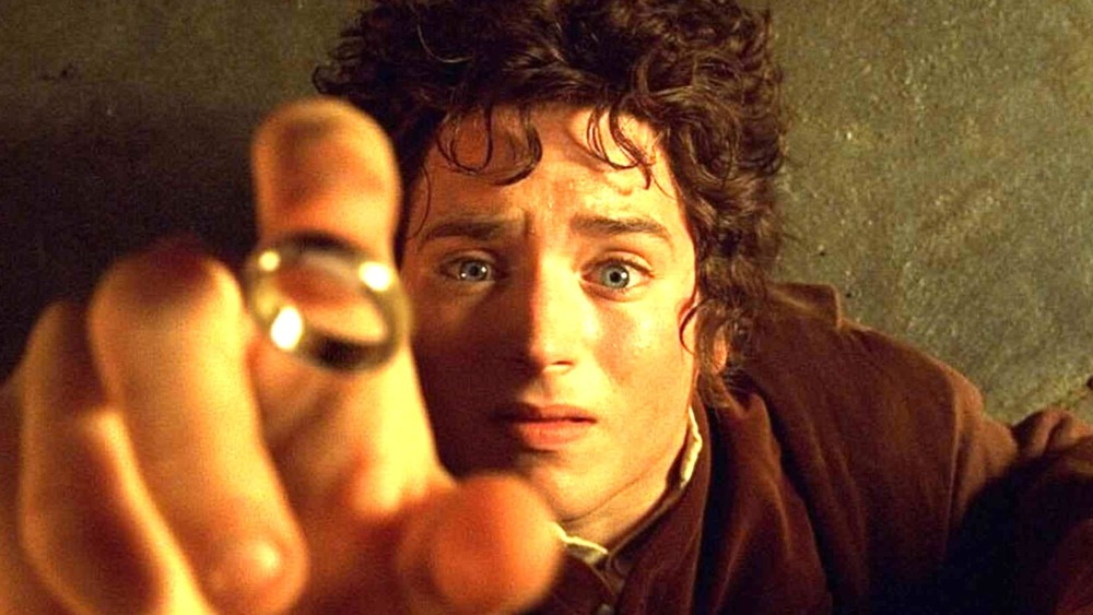 Frodo Baggins catches the One Ring