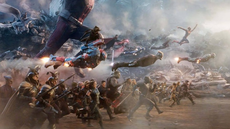 Avengers charge into battle in the thrilling conclusion of the Infinity Saga