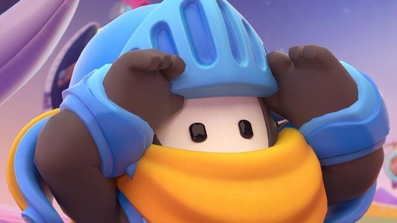 Fall Guy wearing helmet