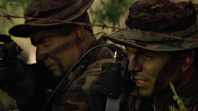 Benjamin Bratt Captain Ramírez camouflage radio