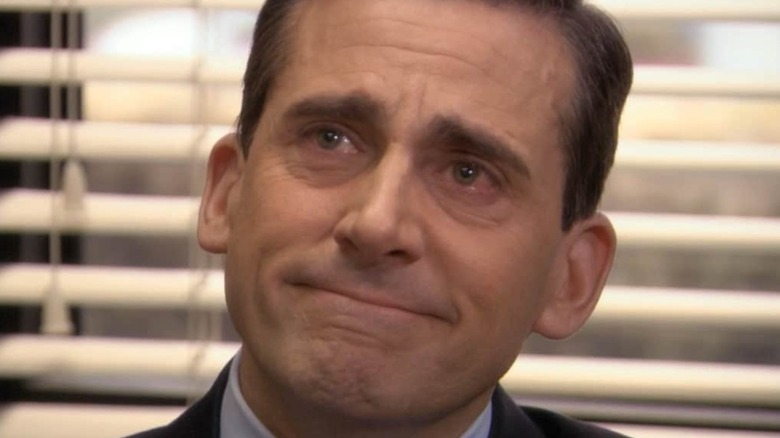 Michael Scott crying