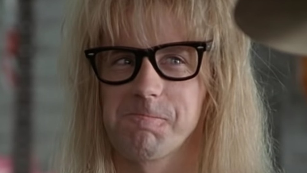 Garth plays the drums in Wayne's World