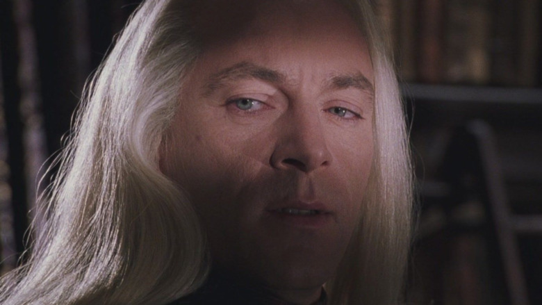 Lucius with evil lighting