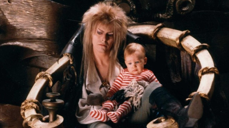 David Bowie and Toby Froud in Labyrinth