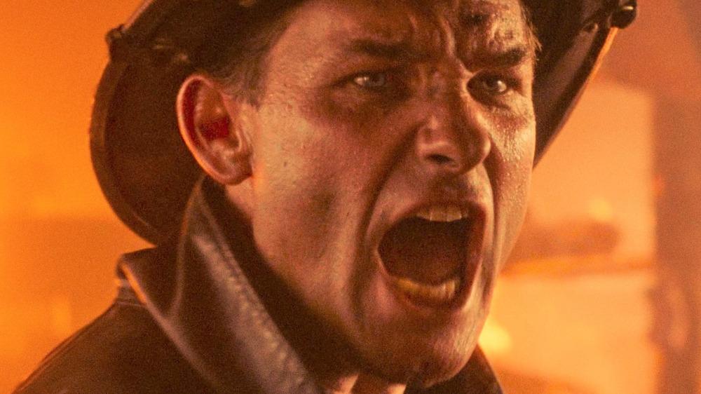 Kurt Russell screaming