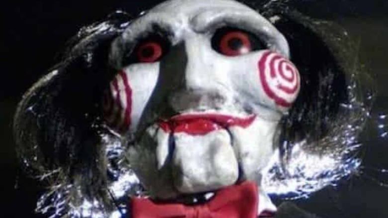 Jigsaw puppet seen in Saw