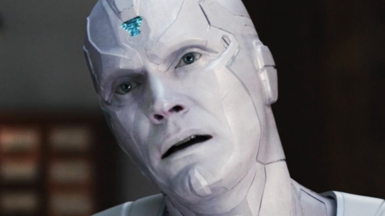 White Vision Paul Bettany mouth open