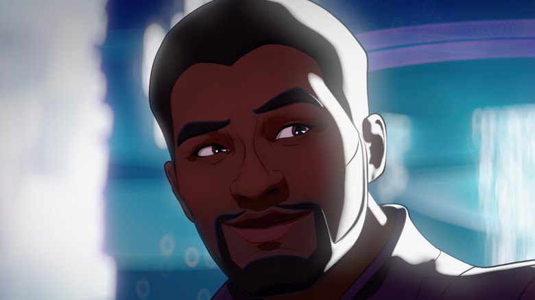 Animated T'Challa smiling