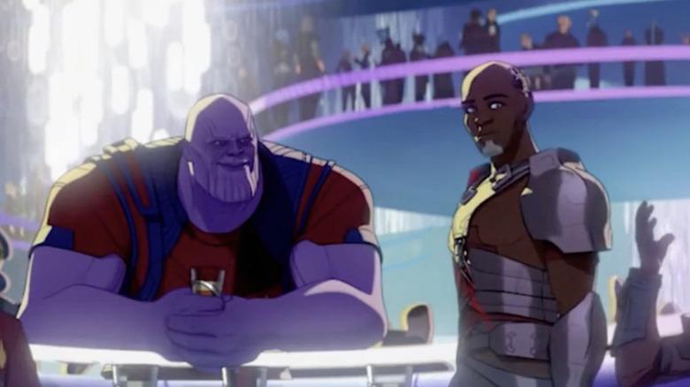 Animated Thanos and Korath at club