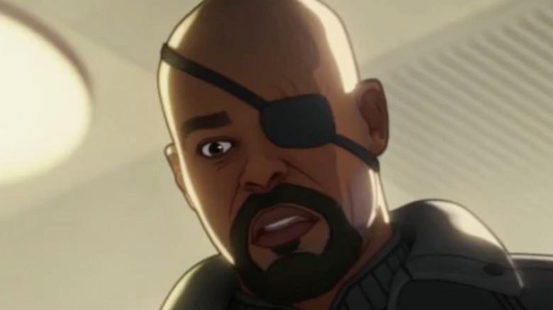 Nick Fury surprised