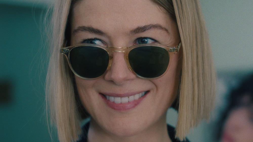 Marla Grayson wearing sunglasses smiling
